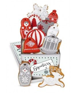 christmas Decorations biscuit tin