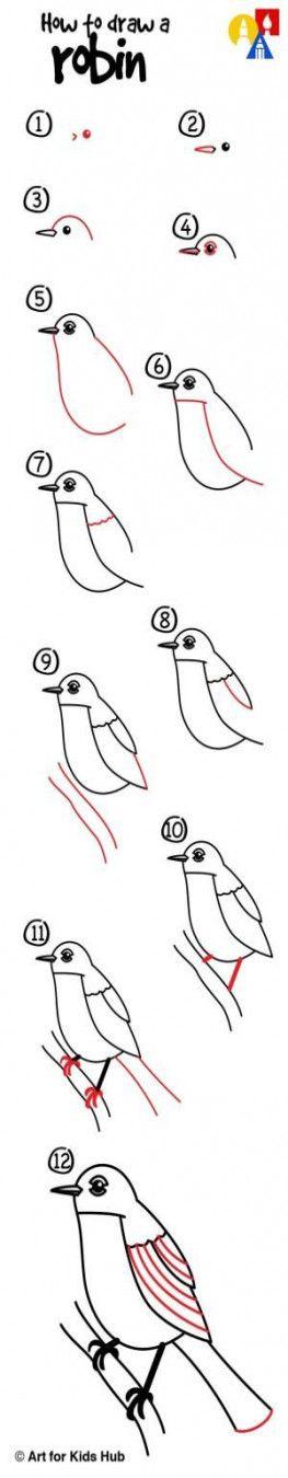 Robin bird drawing pencil 43 Super ideas #drawing #bird