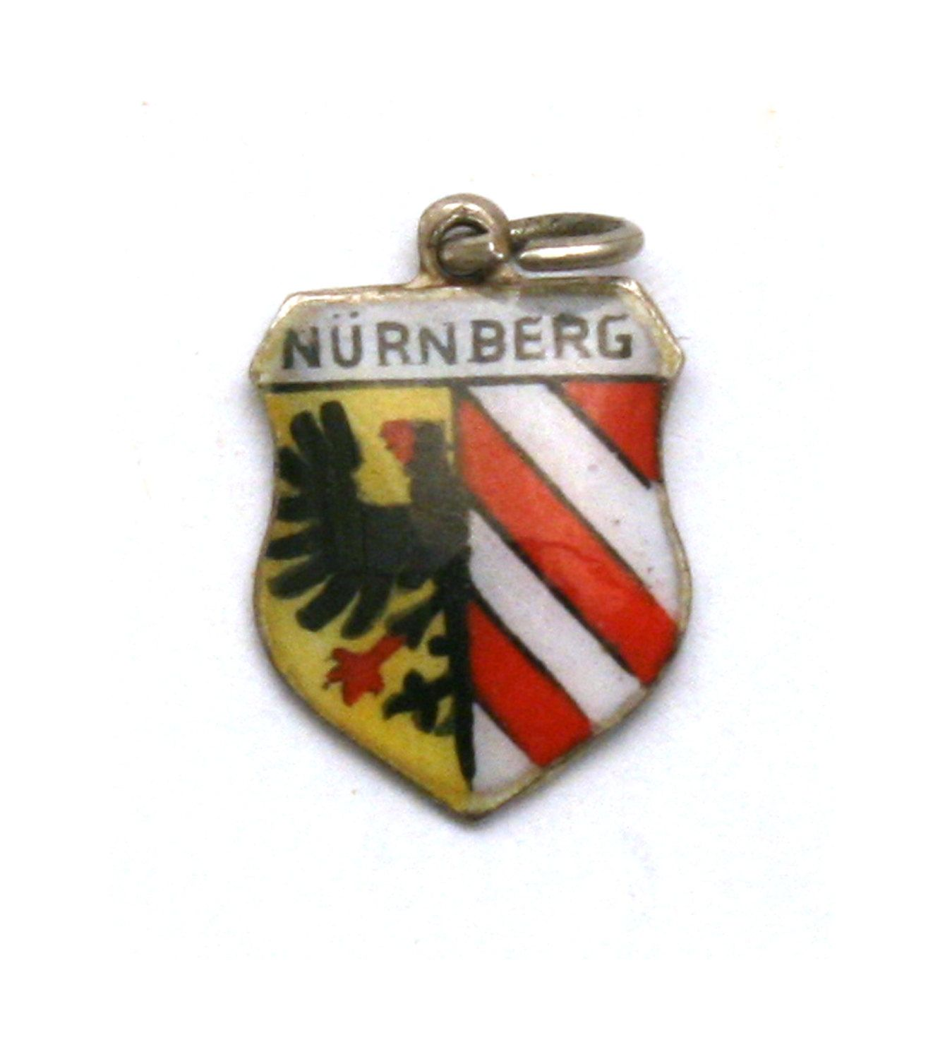 Nurnberg Germany Coat of Arms Travel Shield Vintage 800 Silver Enamel Bracelet Charm Nuremberg by SterlingRevival on Etsy