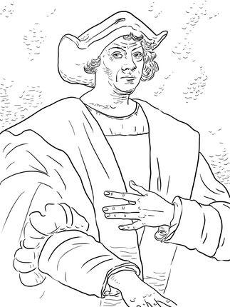 Christopher Columbus coloring page | Social Studies Explorers ...