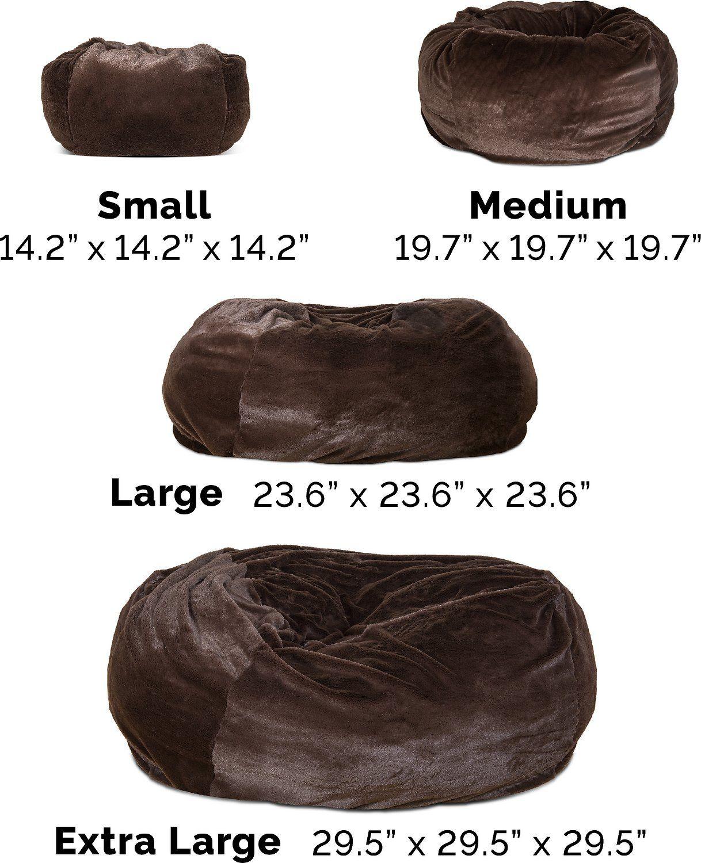 FurHaven Plush Ball Dog Bed, Espresso, Large