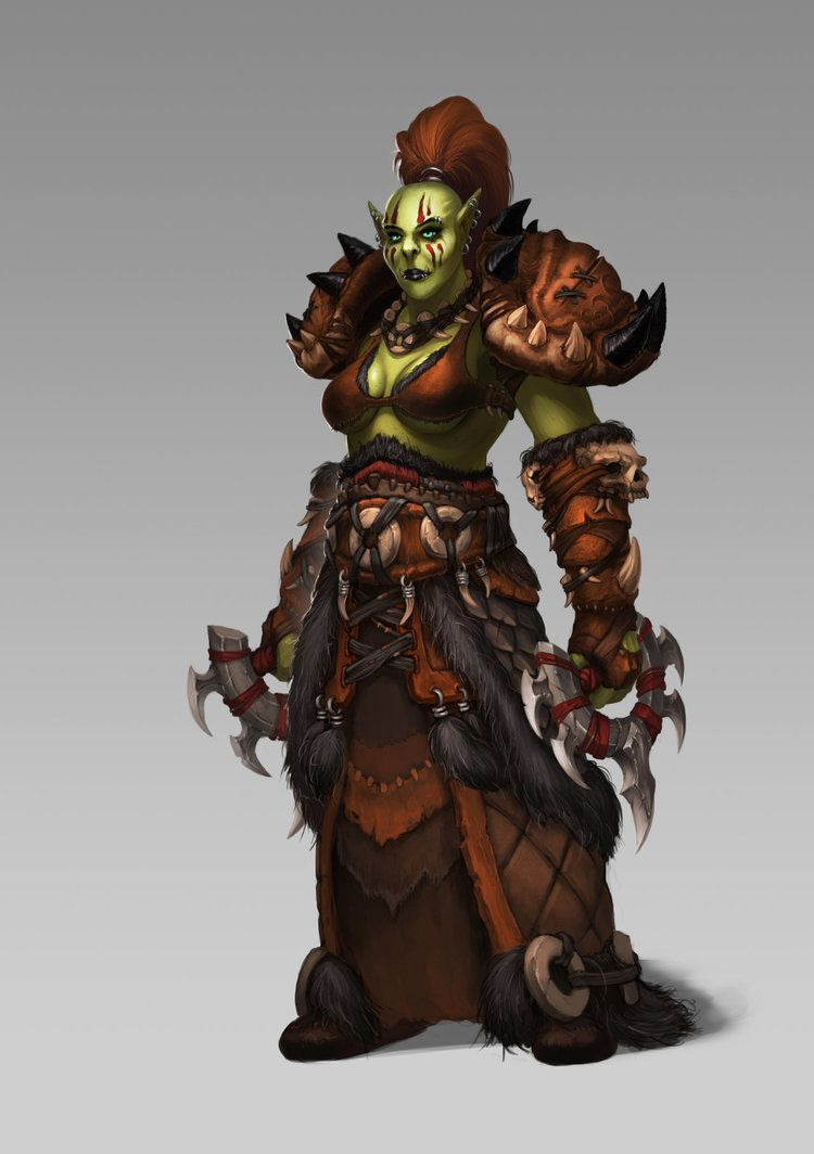 Female Orc Shaman By Koz23 Orks Pinterest Orcos Und Guerreros