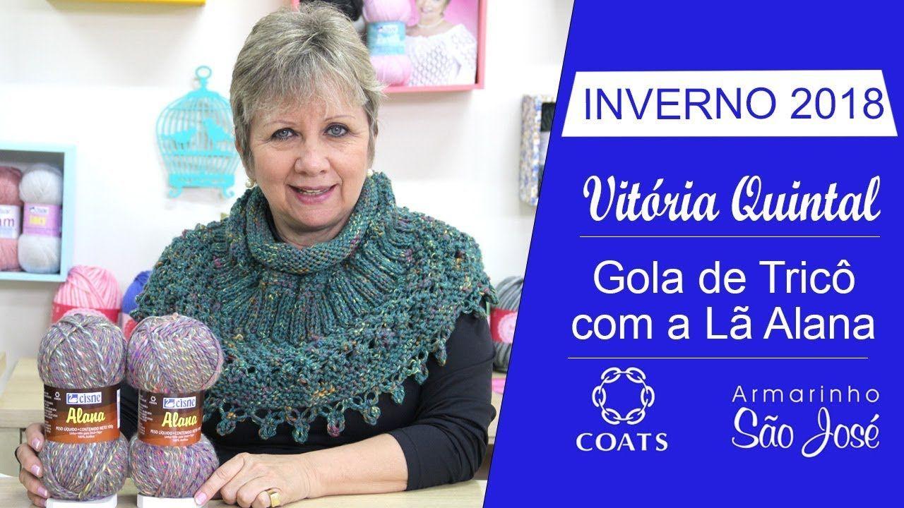 e8e50e0030d40 Lã Alana - Como Fazer Gola de Tricô com Vitória Quintal Gorros De Trico