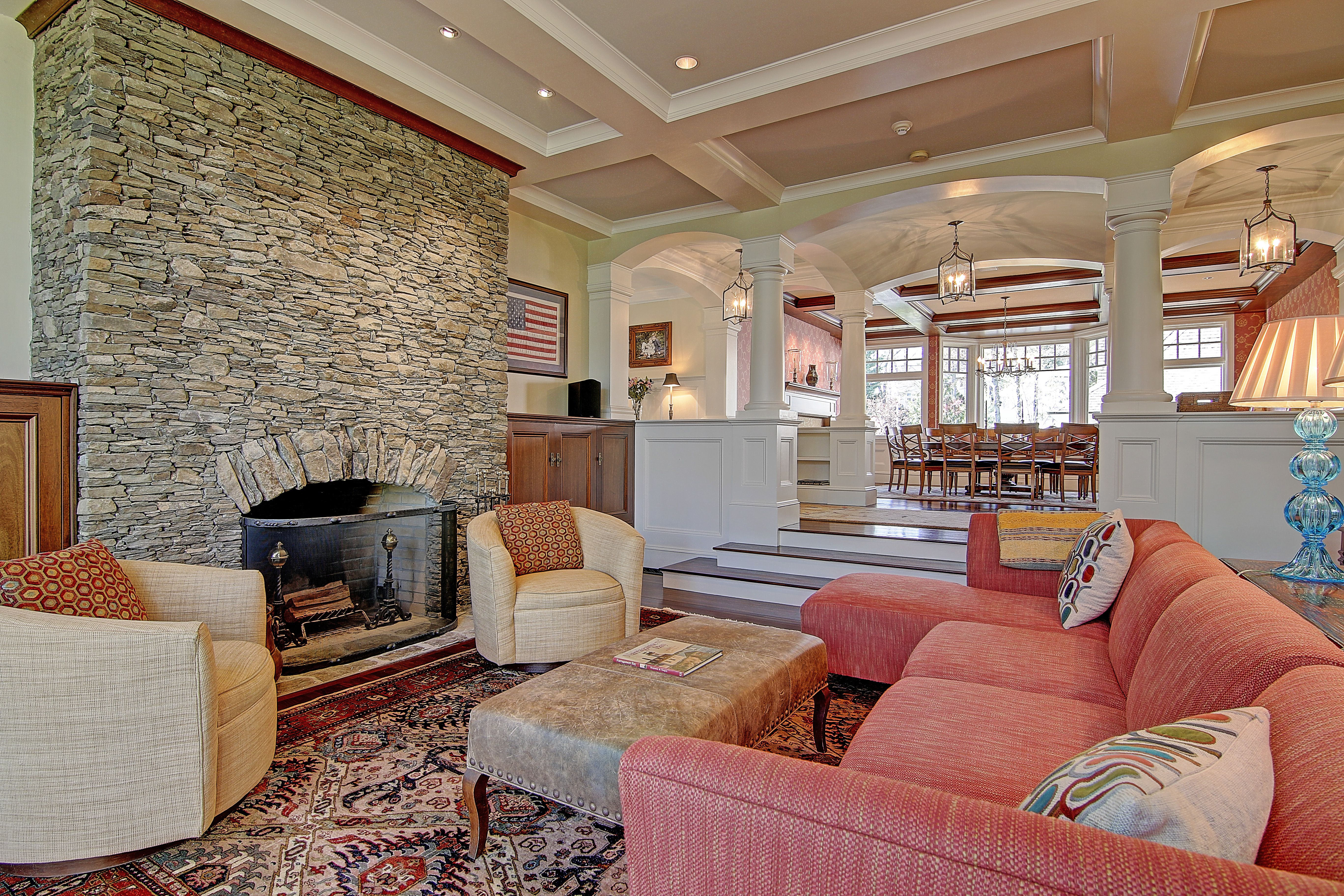 Floor To Ceiling Fieldstone Fireplace See The Video At 12Kingsrowcom