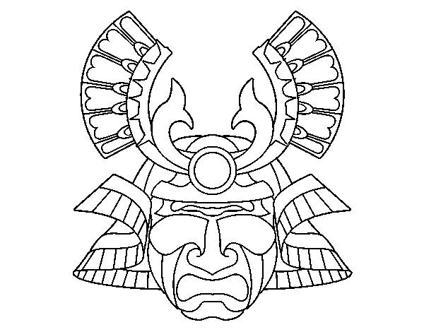 japanese national warrior coloring pages - google'da ara ... - Chinese Dragon Mask Coloring Pages