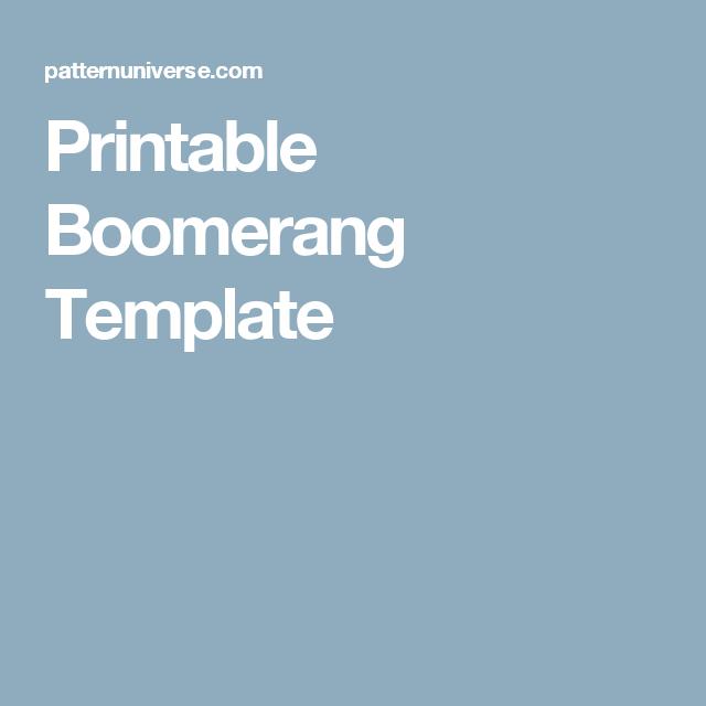 Printable Boomerang Template   Cubs   Pinterest   Template, Color ...