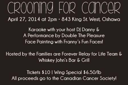 #crooning #cancer #relayforlife #communityconnections #kawarthalakes #funraiser #karaoke