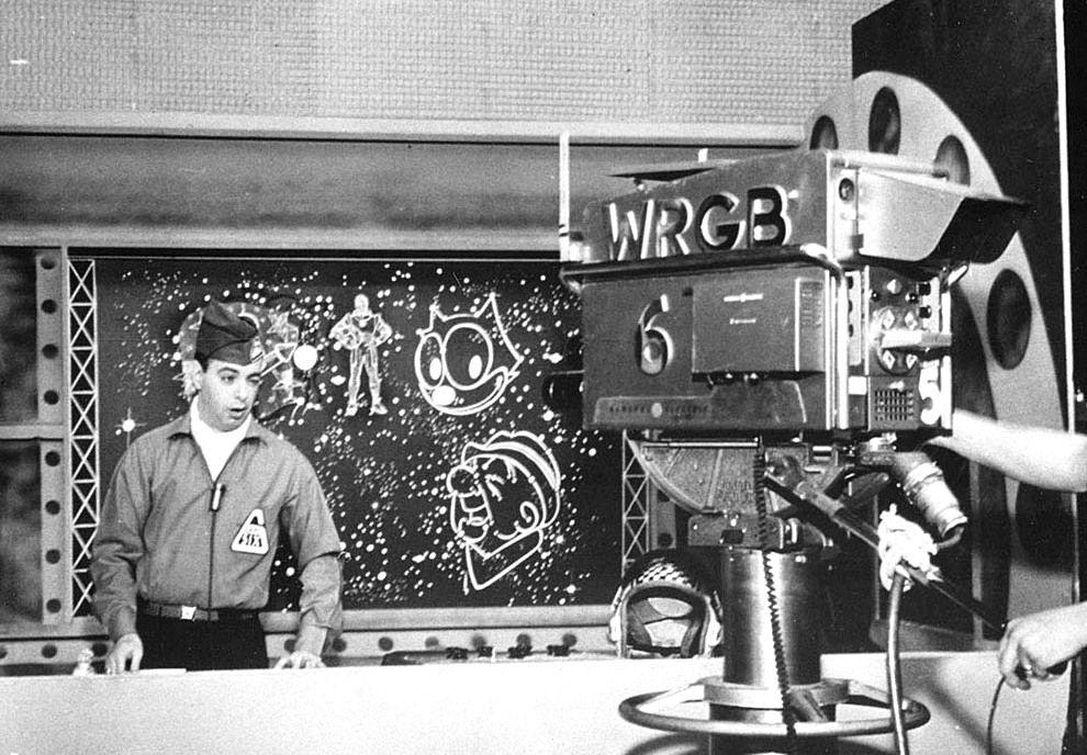 Detrás de las cámaras. WRGB TV, década del 50.