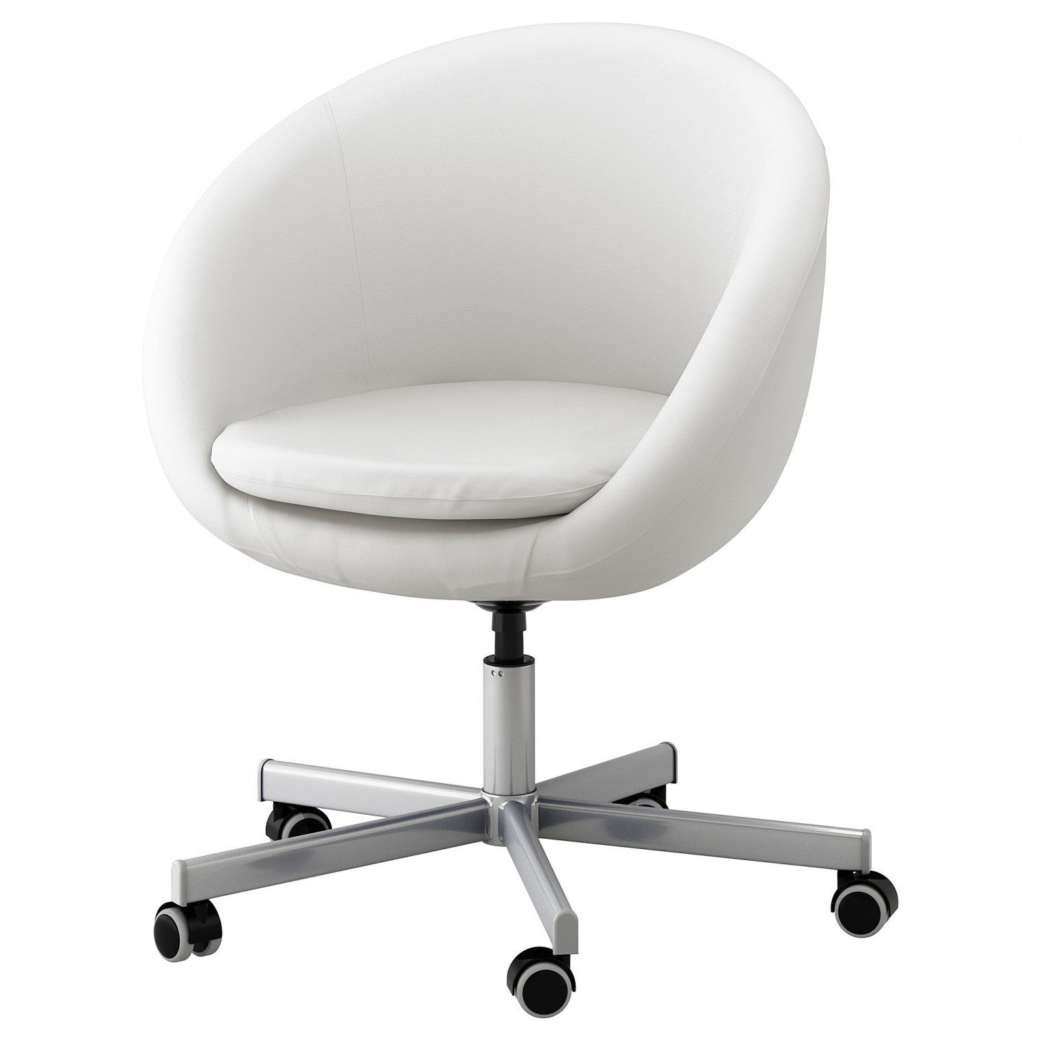 White Leather Office Chair Ikea Ashley Furniture Home Office
