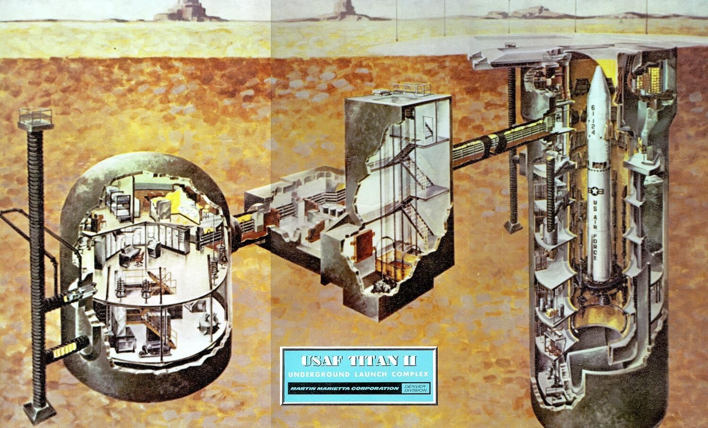 Underground Military Bases For Sale Cold War Era Titan Ii Missile Underground Launch Complex Cutaway