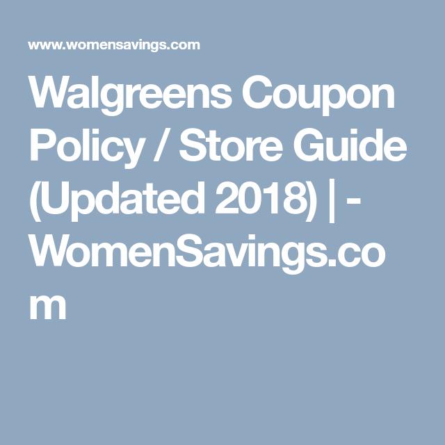 walgreen coupon policy
