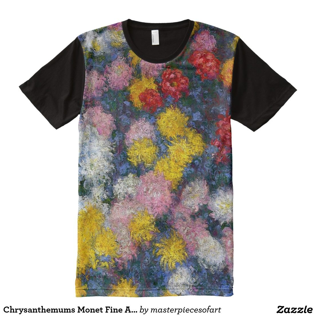 Chrysanthemums Fine Art AllOver Print Shirt (With