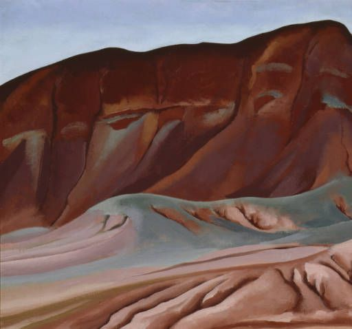 Georgia O'Keeffe. Purple Hills Ghost Ranch - 2/ Purple Hills No II, 1934