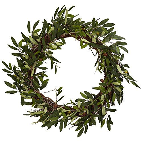 Nearly Natural 20 in. Olive Wreath