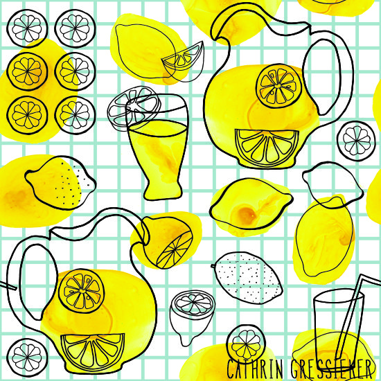 Cathrin Gressieker | Lemonade Jazz | The Ultimate Portfolio Builder | May 2015 class | The Art and Business of Surface Pattern Design | Make it in Design