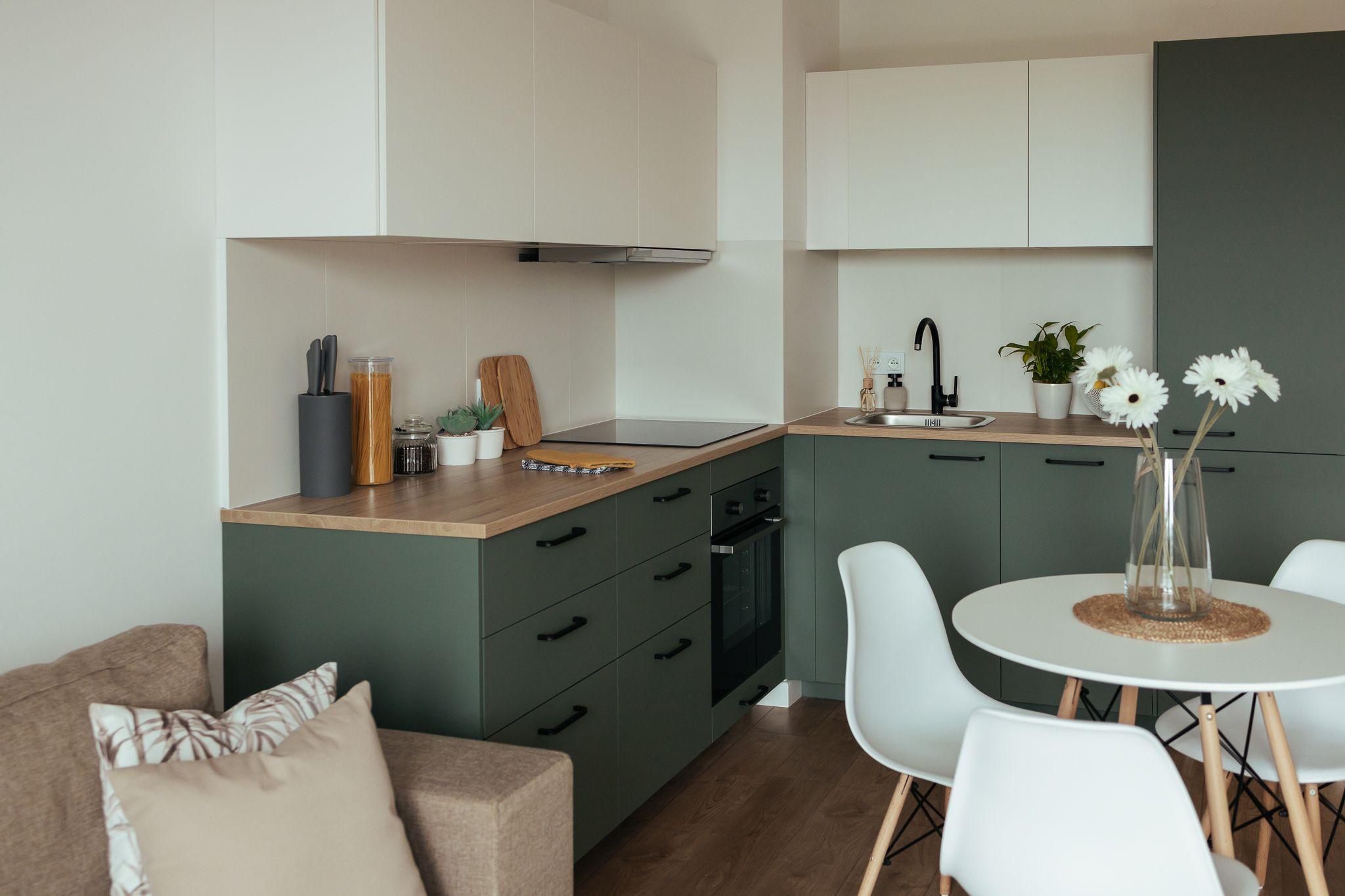 Zielona Kuchnia Green Kitchen Ikea Metod Kitchen Kitchen Decor Apartment Kitchen