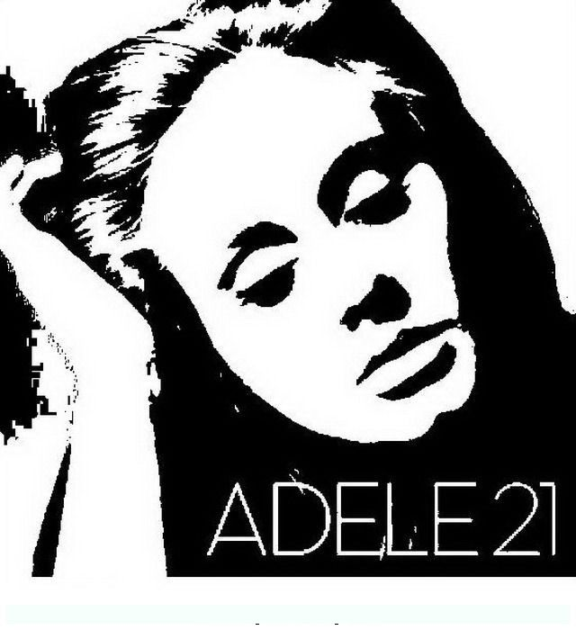adele 2 Famous people coloring pages silhouette