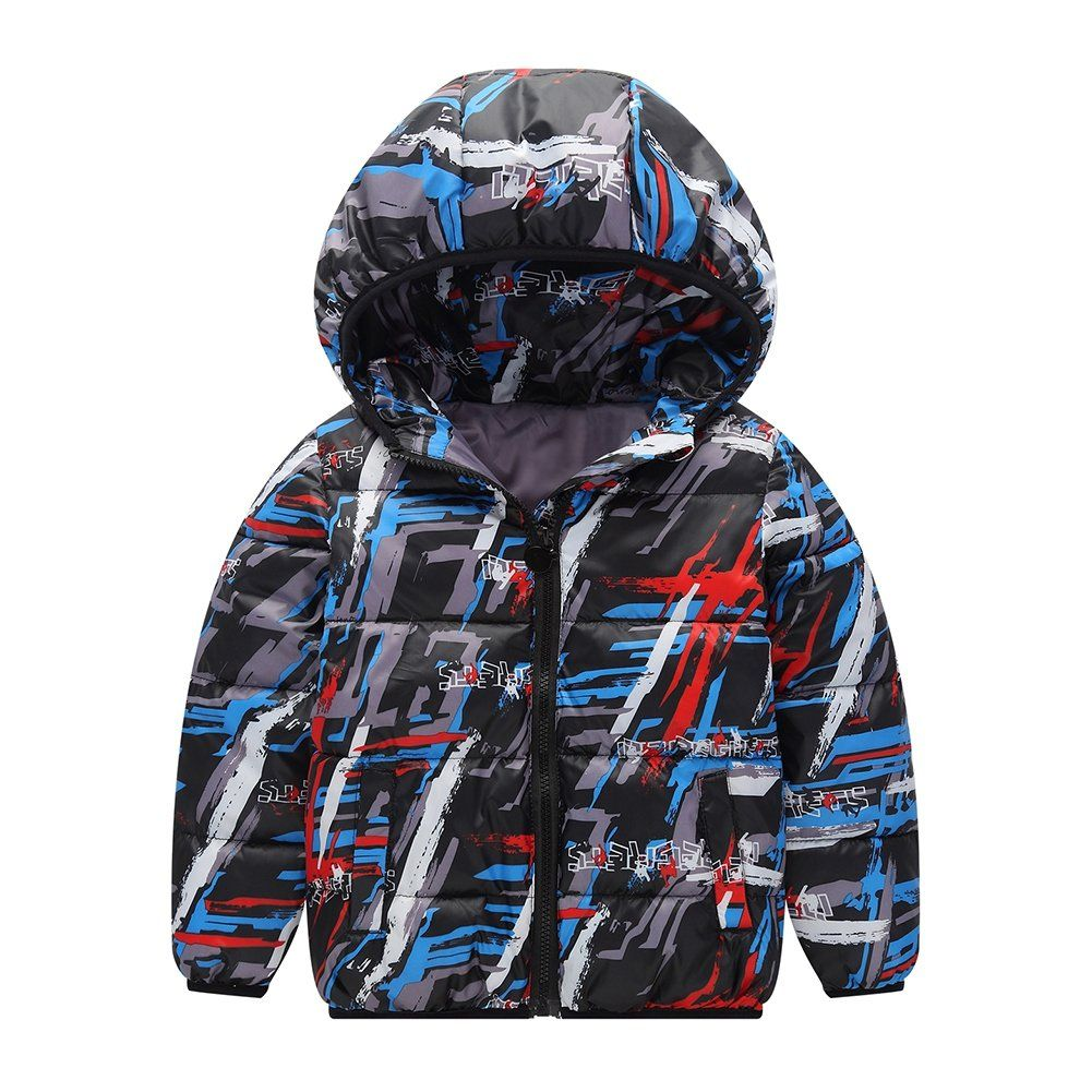 TAIYCYXGAN Baby Boys Winter Coat Hoodies Toddlers Camouflage Thick Outwear Jacket