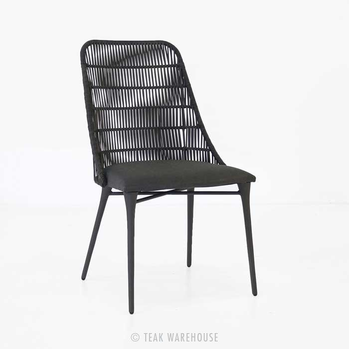 Morgan Outdoor Wicker Dining Chair (Cocoa) - Dining Chairs - Dining - sillas de playa