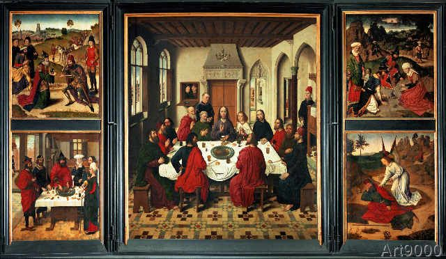 Dieric Bouts - Altar of Last Supper / Bouts / 1464/67 ...