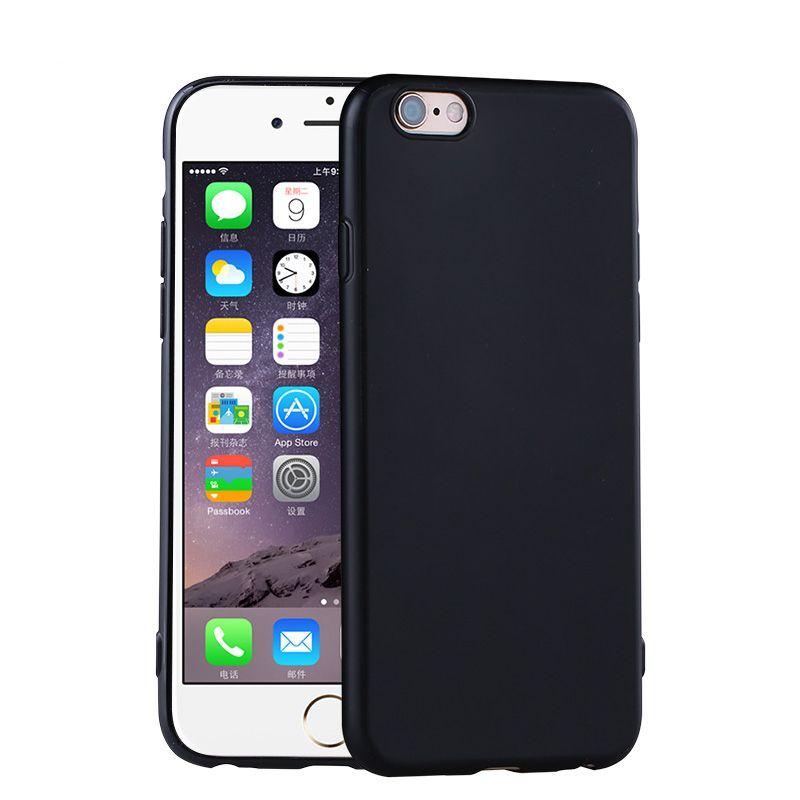 Solido candy colore opaco della pelle case per iphone 6 s tpu gomma morbida copertura posteriore per iphone 6 6 s silicone 4.7 pollice nero blu colori