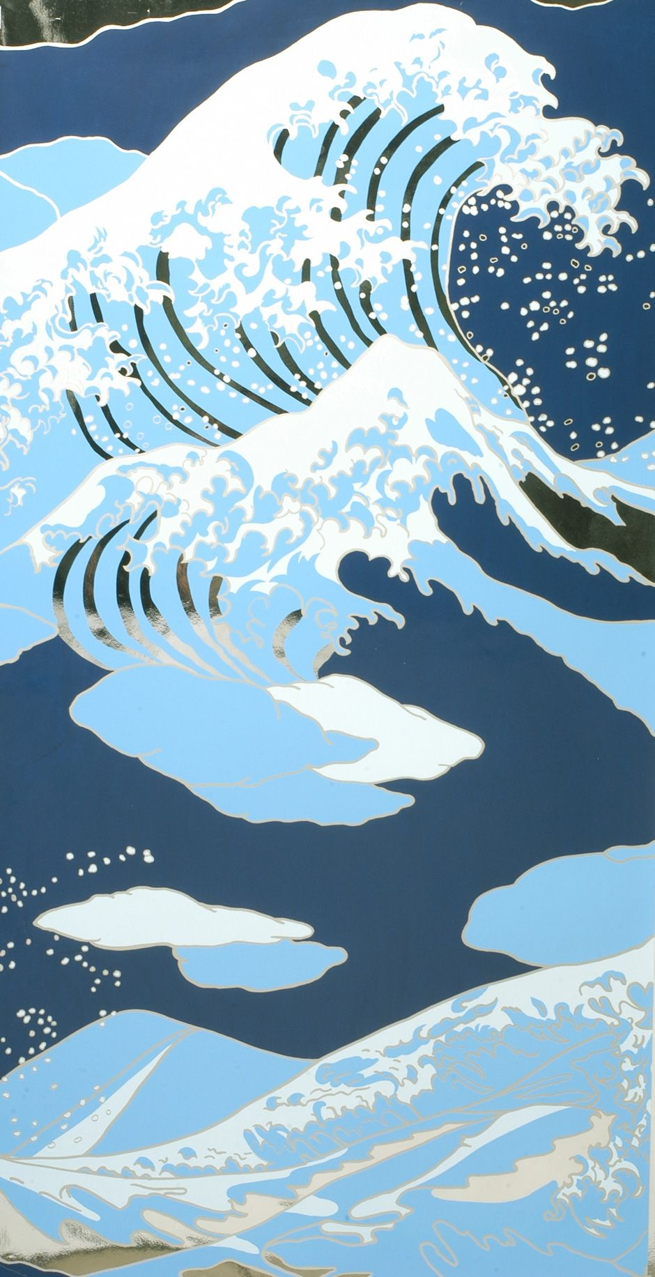 Flavor Paper Onda The Great Wave off Kanagawa Wallpaper