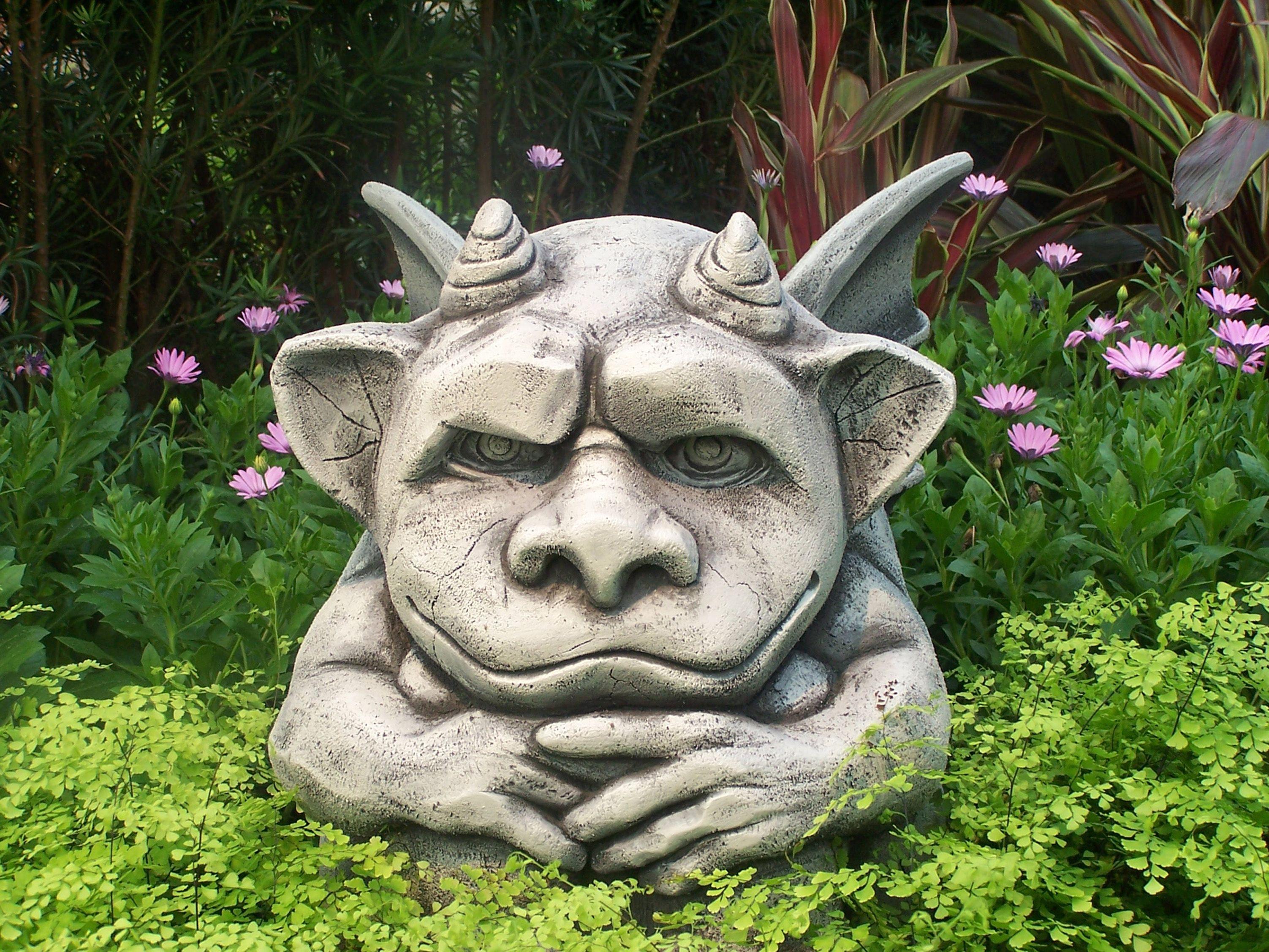Cute Gargoyles | Cute But Grouchy Gargoyle Representing One Of Many  Gargoyles Scatted .