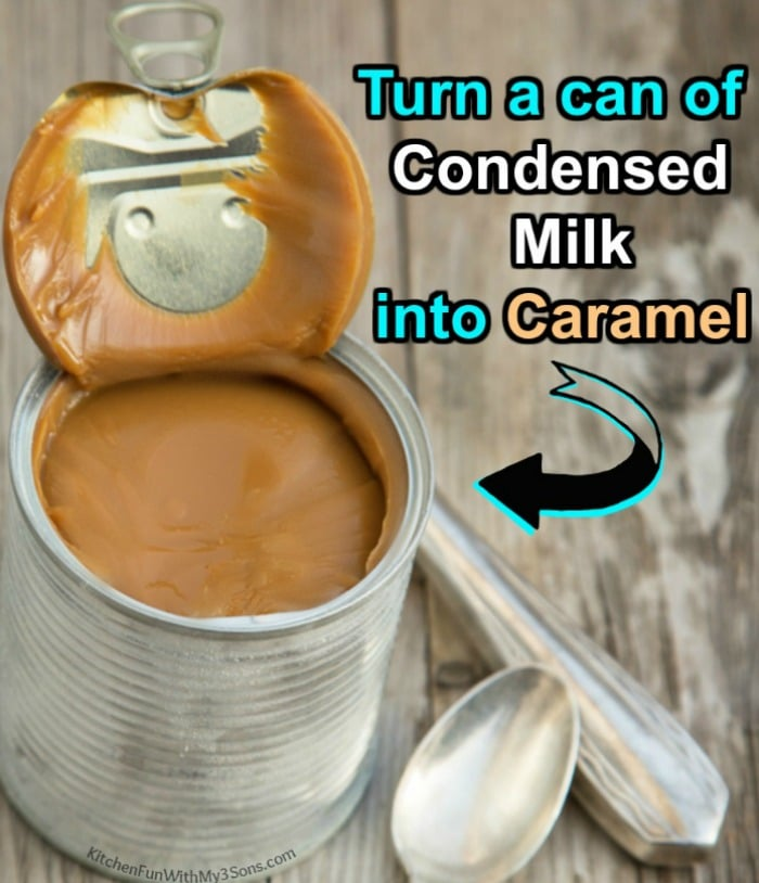 Sweetened Condensed Milk Caramel Slow Cooker Kitchen Fun With My 3 Sons Condensed Milk How To Make Caramel Condensed Milk Recipes