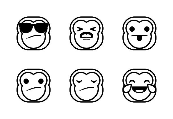 Hana Emojis Monkey Edition Line Ad Sponsored Paid Emojis Line Edition Hana Line Icon Emoji Icon