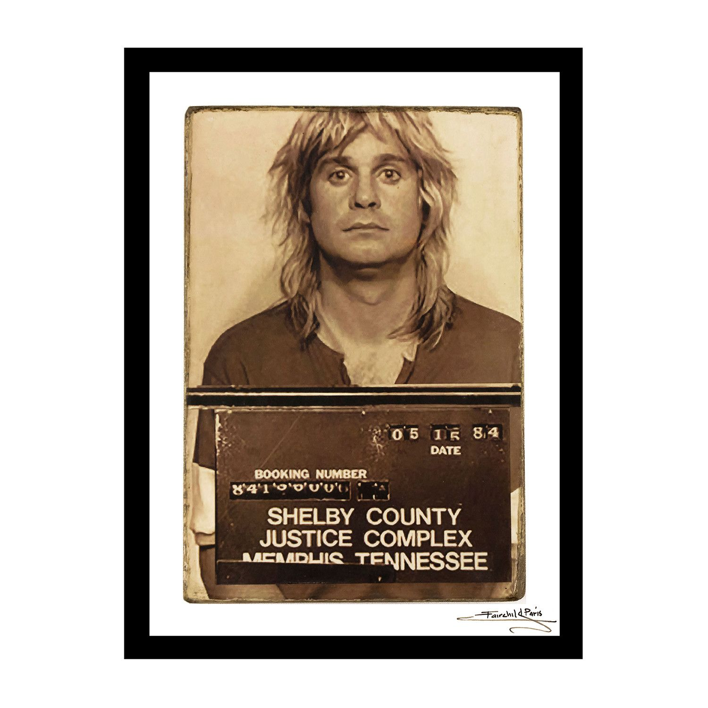 Mugshot Ozzy Osbourne Ozzy Osbourne Mug Shots Unique Print