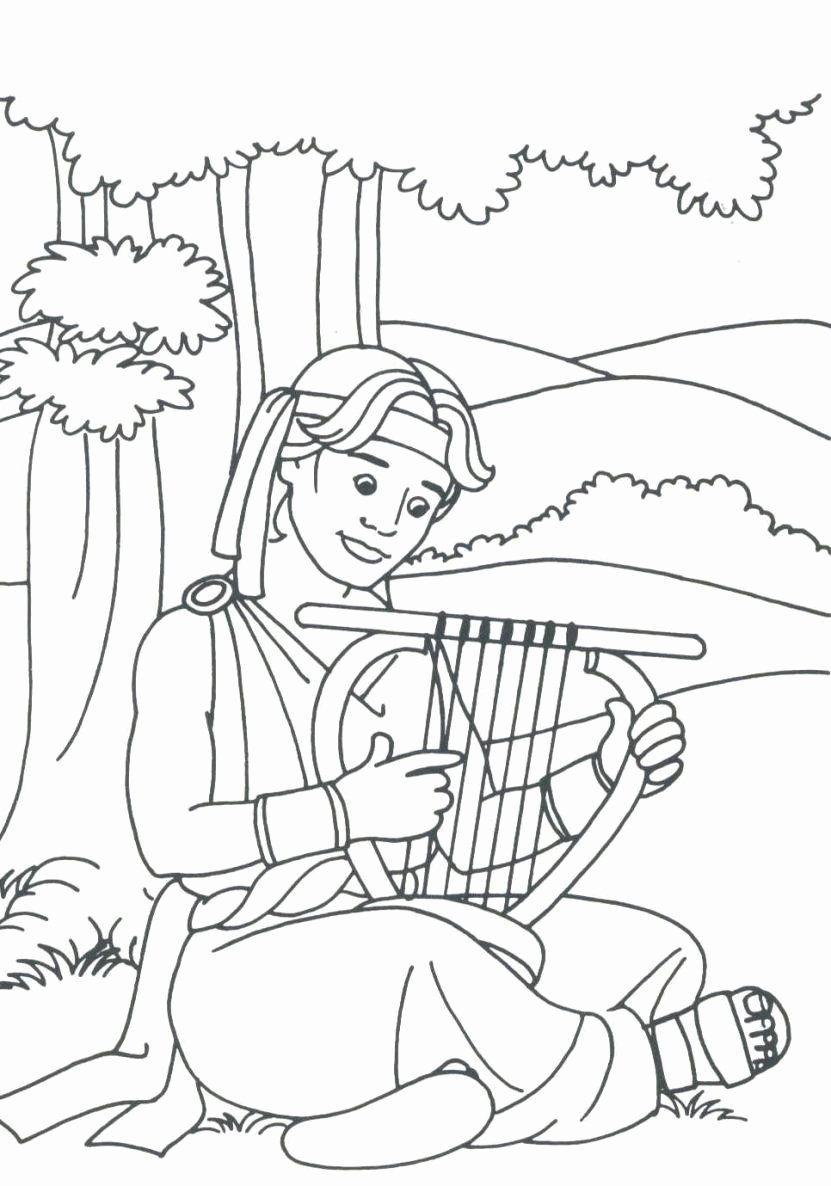 David and Mephibosheth Coloring Page Beautiful