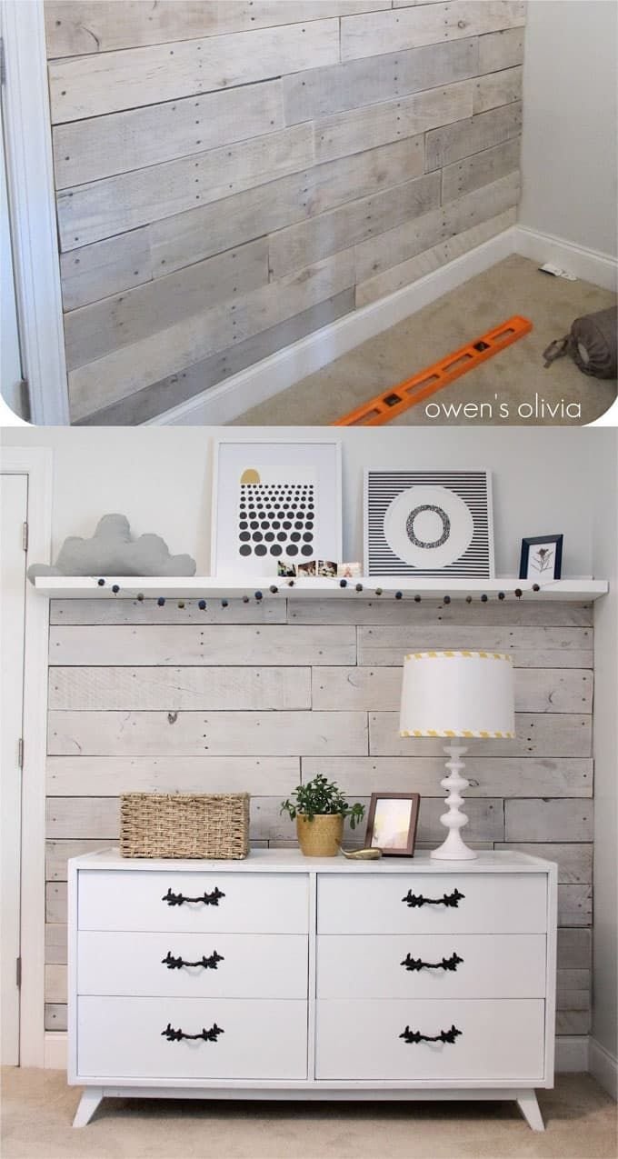 Shiplap Wall And Pallet Wall 30 Beautiful Diy Wood Wall