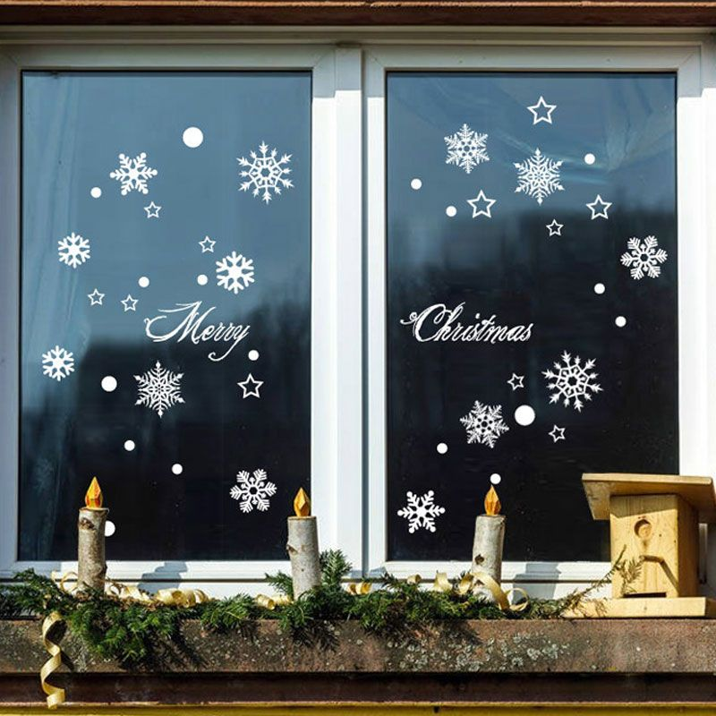 Contemporary Plain Wall Sticker Removable Christmas Wall Sticker