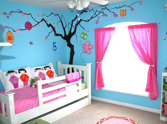 Kinderzimmer streichen kinderzimmer streichen idee in blau und rosa | Home | Pinterest ...