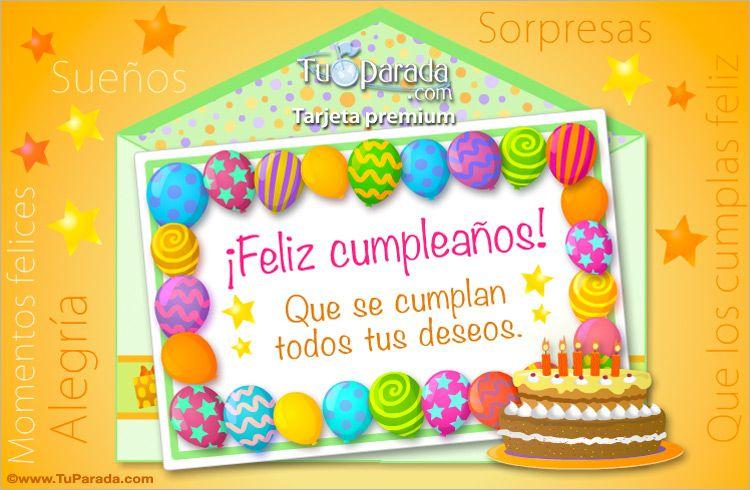 Ecard de cumplea os de globos sobres sorpresa tarjetas - Imagenes de fiestas de cumpleanos ...