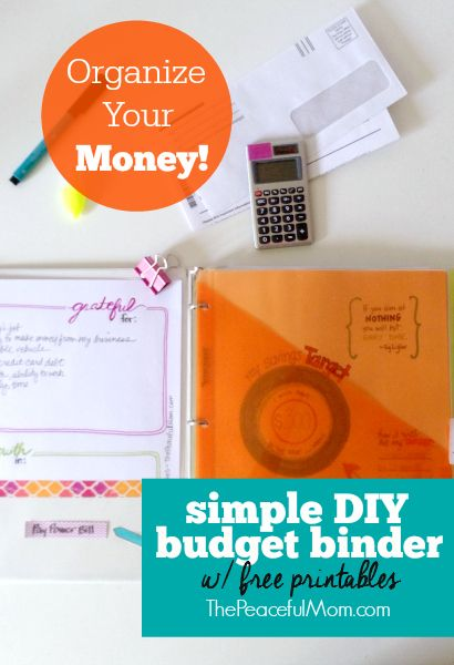 How to Make a Simple Budget Binder {+ free printables Money - how to make a budget spreadsheet
