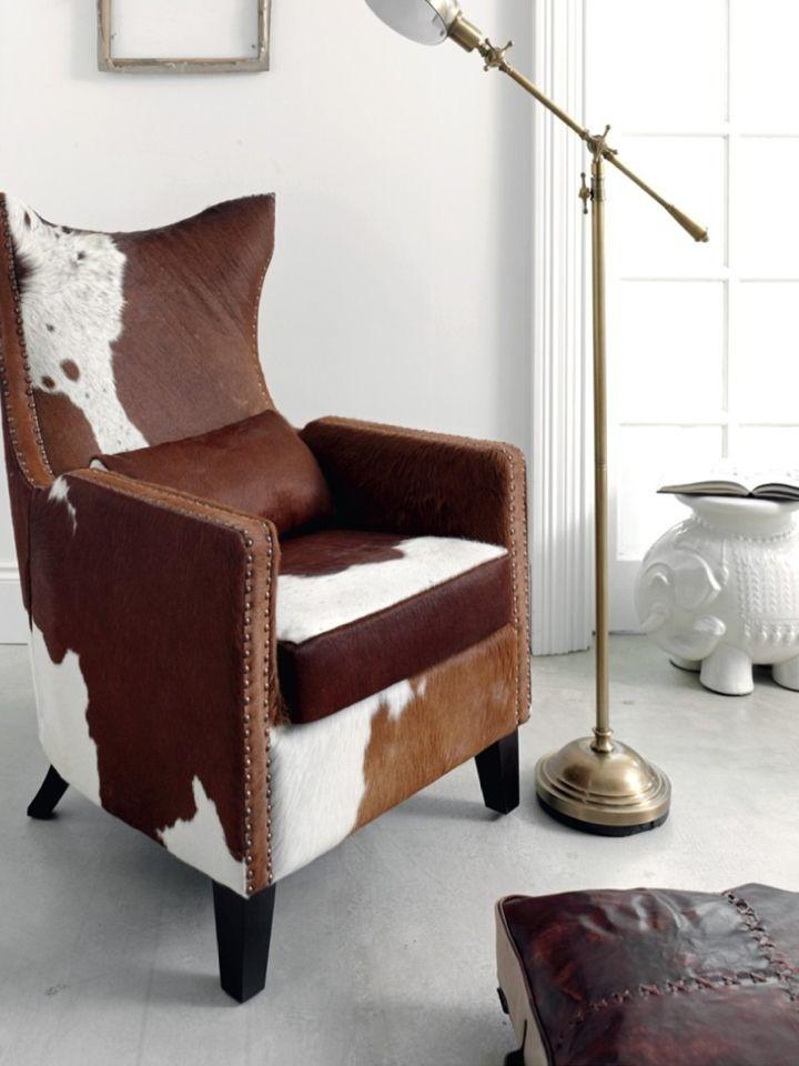 Cow hide chair cowhide furniture home decor furniture