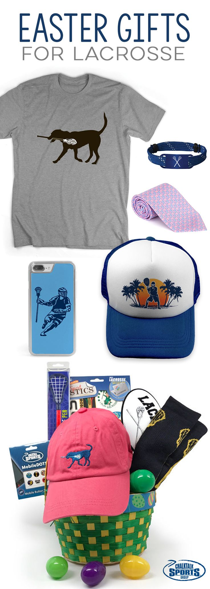 Treat your lacrosse player this Easter to our fun and festive gifts! From Easter baskets to apparel and accessories, we've got you covered for everyone on your shopping list!