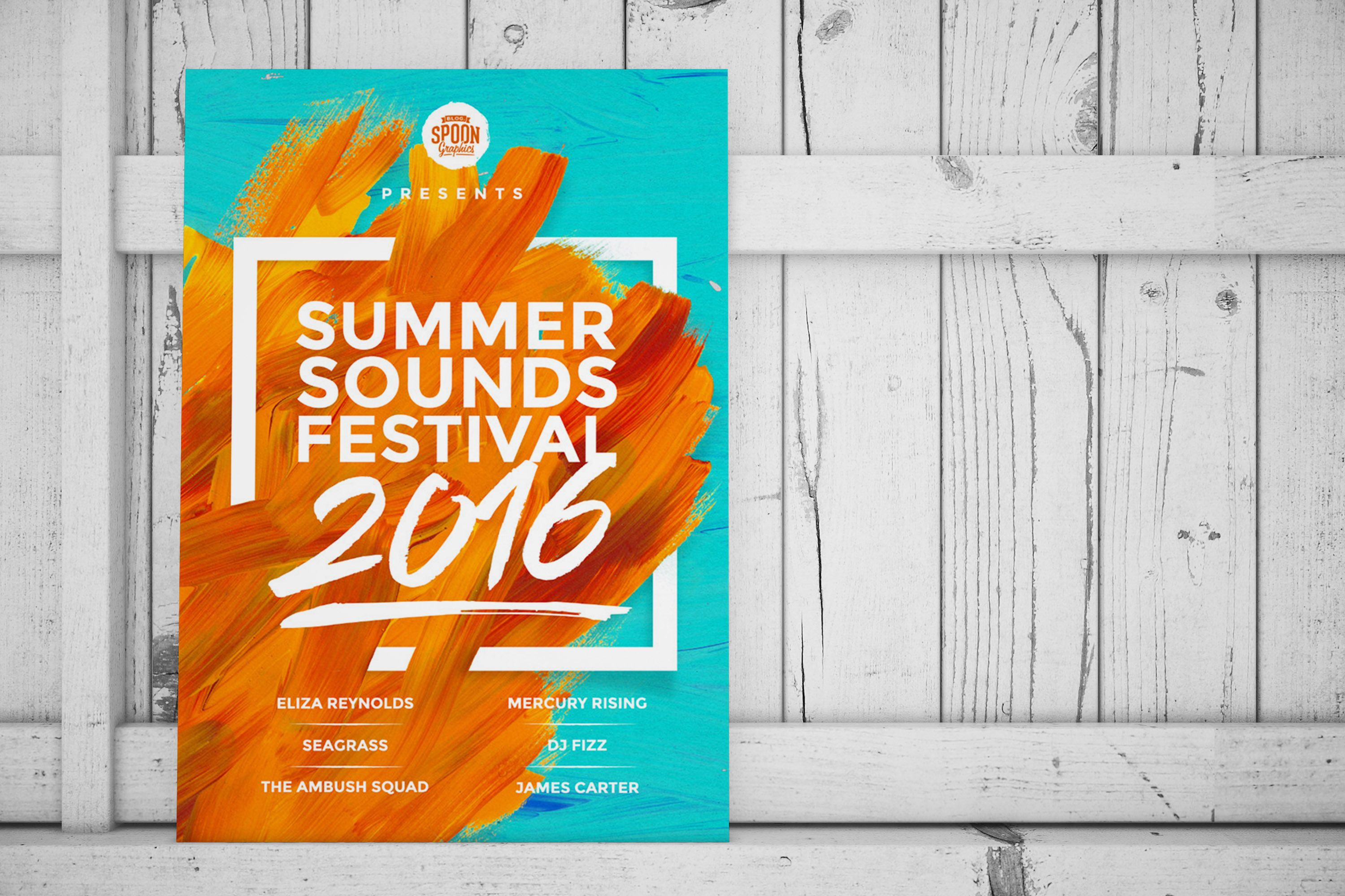 Summer Soynds Festival Event Poster Example Venngage Poster