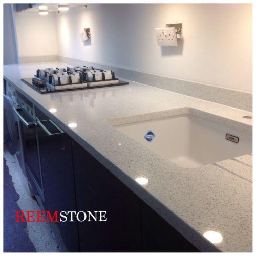 Quartz Worktops Granite White Starlight Ebay