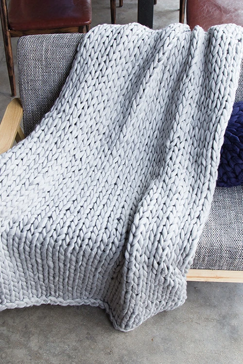 Photo of Chunky Wool Knit Blanket