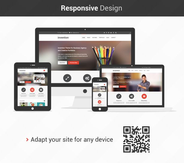 Invention - Responsive HTML5 Template | Cleanses, It is and Creative
