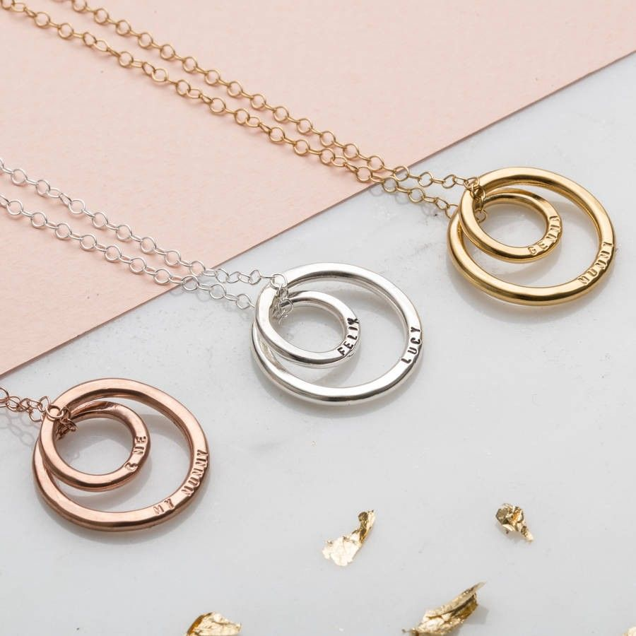 Personalised Name Ring Necklace