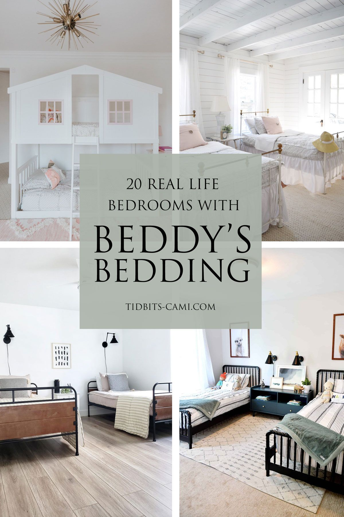 20 Inspiring Bedrooms with Beddy's Bedding | In real life! #beddys #beddysbeds #beddysbedding #camitidbits #kidsbedding #kidsbedroom