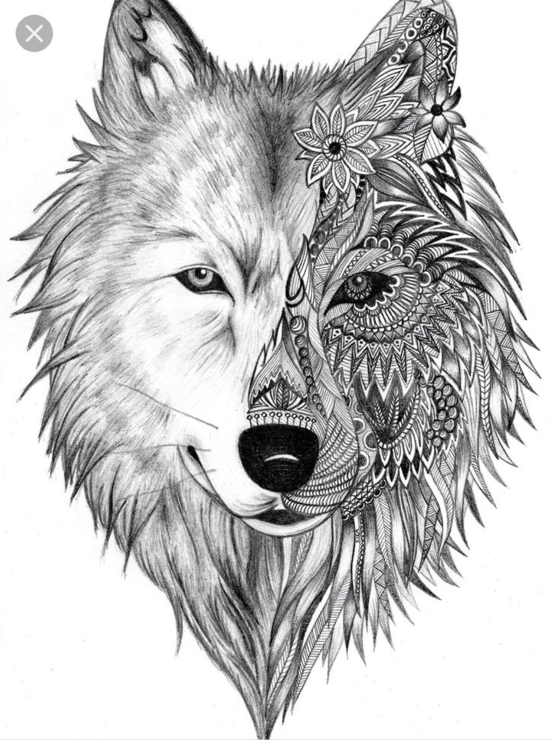 Pin By Adan Rodriguez On Lobos Tatuajes Tatuaje Geométrico