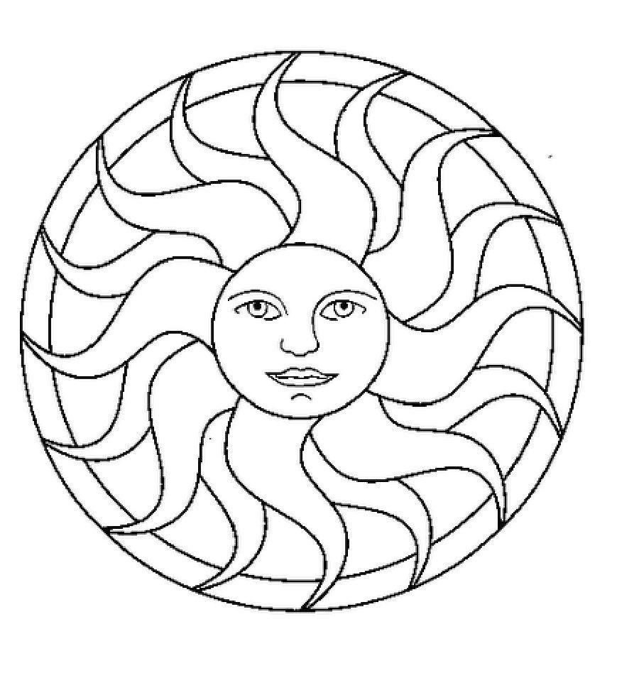 Mandalas sol dibujos para colorear sewing fabrics stash buster