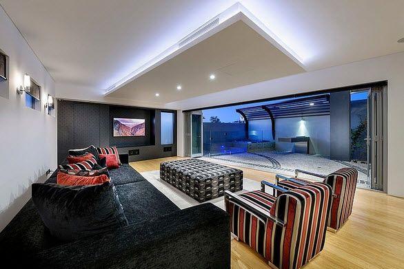 Fachada y diseo interior de casa moderna de dos pisos fotos