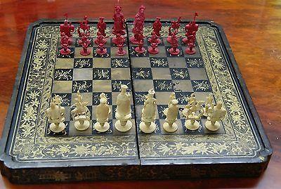 Details About Antique French Chess Set