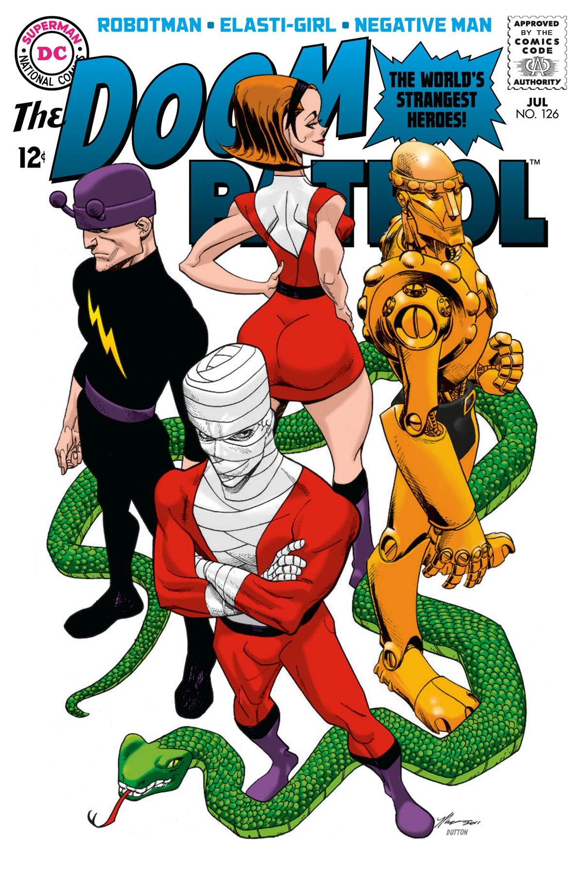 doom patrol comic book covers