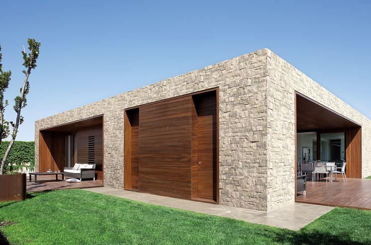 Rivestimento Esterno Casa Moderna : Rivestimento in pietra esterno case moderne pinterest esterno
